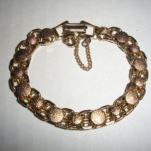 Vintage Link Bracelet w/ Safety Chain